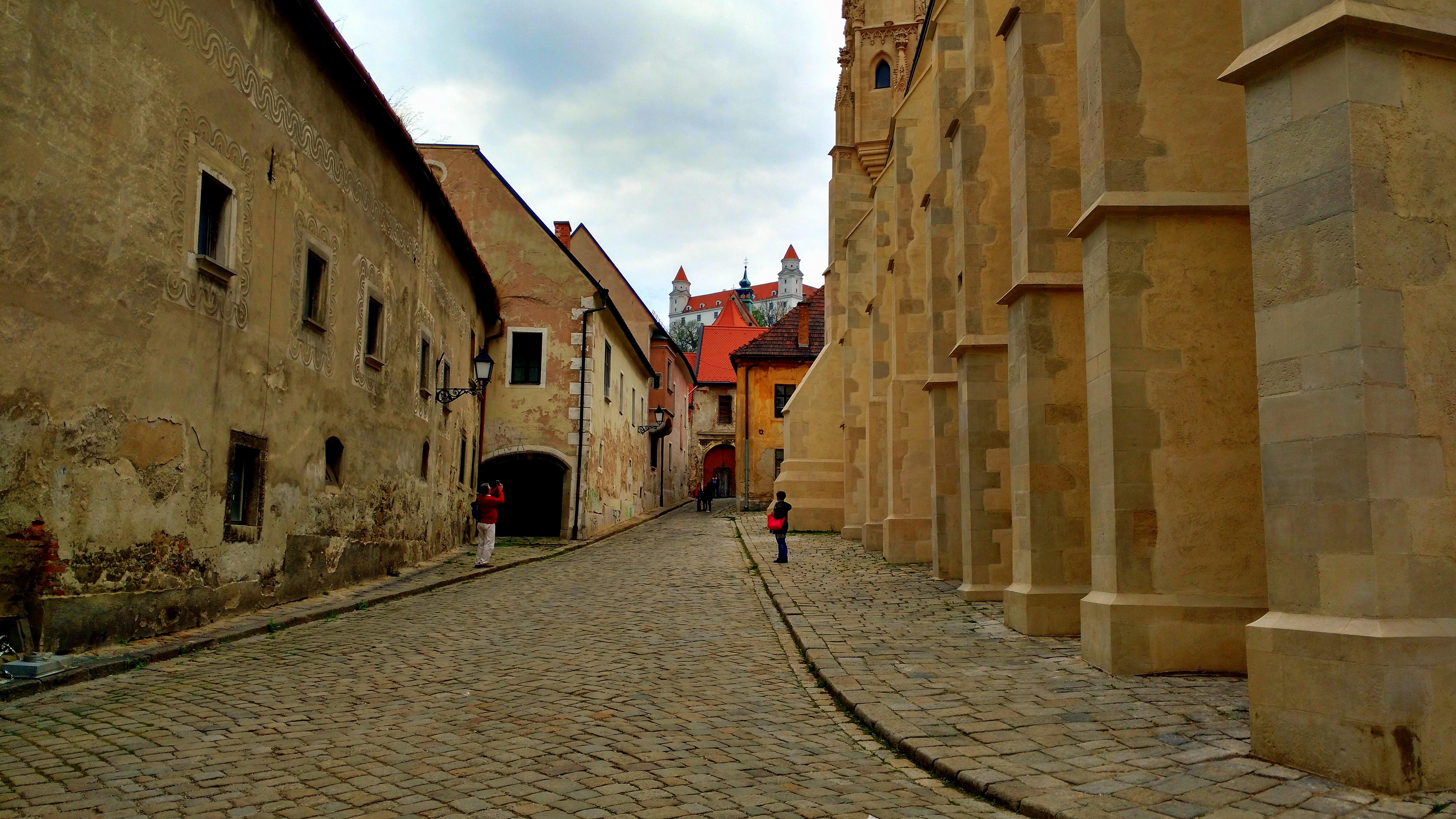 Walk in Bratislava old town
